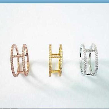 여성 밴드 반지 패션 의상 보석 스탈링 실버 지르콘 보석류 제품 일상 캐쥬얼