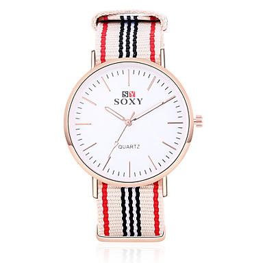 Χαμηλού Κόστους Ανδρικά ρολόγια-SOXY Ανδρικά Μοδάτο Ρολόι Χαλαζίας Ανοξείδωτο Ατσάλι Μαύρο / Λευκή / Χακί Καθημερινό Ρολόι Αναλογικό Φυλαχτό Κλασσικό - Λευκό Μπεζ Κόκκινο