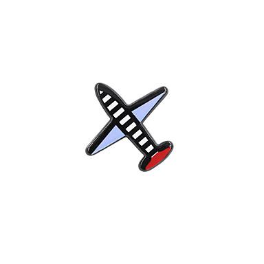 divat női aranyos repülőgép pin bross