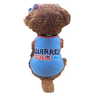Cachorro Camiseta Roupas para Cães Carta e Número Azul-Amarelo Algodão Ocasiões Especiais Para animais de estimação