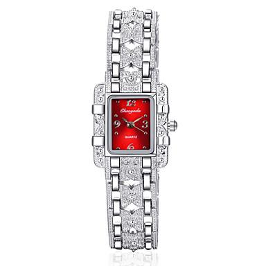 Dames Armbandhorloge Chinees Kwarts Roestvrij staal Band Glitter Bangle Zilver