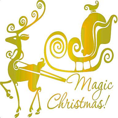 Állatok / Karácsony / Romantika Falimatrica Repülőgép matricák Dekoratív falmatricák,vinyl Anyag Eltávolítható / Újra-pozícionálható