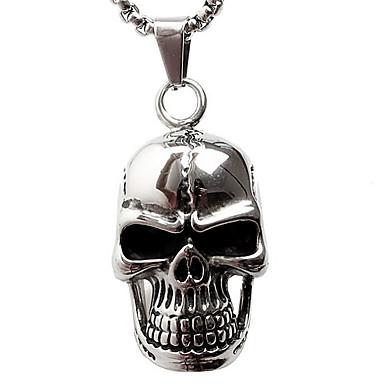 z098 személyiség, han kiadás nem mainstream, dagály férfi koponyák titán acél medál nyaklánc (kivéve lánc)