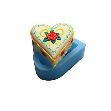 szív szappan csokoládé szilikon öntőforma, sütemény formák, szappan öntőformák, dekorációs szerszám bakeware
