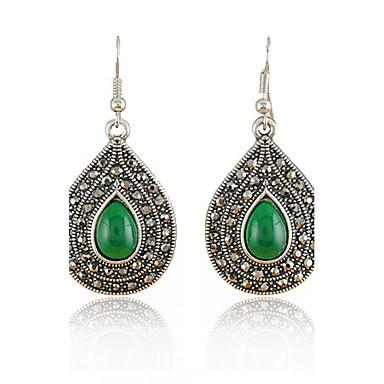 Női Luxus Vintage Divat Szintetikus drágakövek Gyanta Strassz Hamis gyémánt Ötvözet Lógó Ovális Ékszerek Napi Hétköznapi Jelmez ékszerek