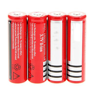 18650 Piller Şarj Edilebilir Li-Ion Pil 4200 mAh 4adet Şarj Edilebilir için Kamp/Yürüyüş/Mağaracılık