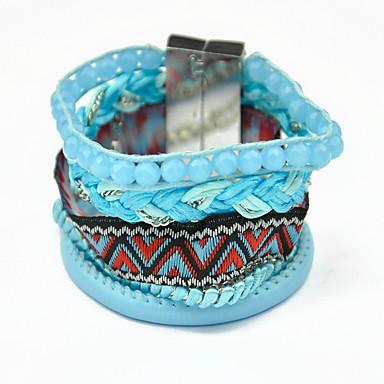 Női Elbűvölő karkötők / Wrap Karkötők - Bojt, Bohém, Barátság Karkötők Kék / Rózsaszín Kompatibilitás Napi / Hétköznapi