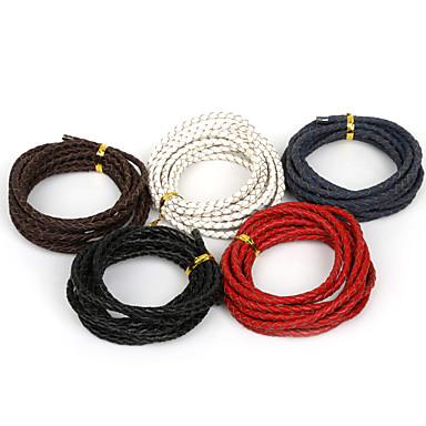 beadia 4mm fonott bőr kábelt illik nyaklánc& karkötő 2mts hossza (5 szín)