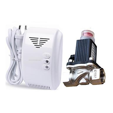 lpg natuurlijke gaslek detector alarm met DN15 elektromagnetische magneetventiel automatische uitschakeling