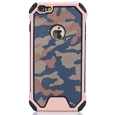 Mert iPhone 6 tok / iPhone 6 Plus tok Ütésálló Case Hátlap Case Álcázás Kemény PC AppleiPhone 6s Plus/6 Plus / iPhone 6s/6 / iPhone