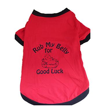 Cachorro Camiseta Roupas para Cães Respirável Carta e Número Preto/Vermelho Ocasiões Especiais Para animais de estimação
