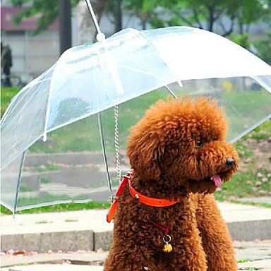 Kutya Esernyő Házi kedvencek Hordozók Vízálló Hordozható Egyszínű Átlátszó