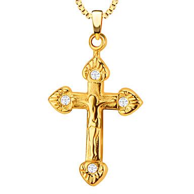 Férfi Női Függők Križ Cross Shape Szív Rozsdamentes acél Arannyal bevont Fém Ötvözet Luxus Szerelem Divat Ékszerek Kompatibilitás