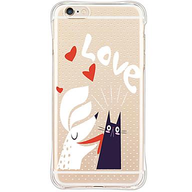 용 아이폰6케이스 아이폰6플러스 케이스 케이스 커버 방수 충격방지 투명 뒷면 커버 케이스 카툰 소프트 TPU 용 Apple iPhone 6s Plus iPhone 6 Plus iPhone 6s 아이폰 6 iPhone SE/5s iPhone 5