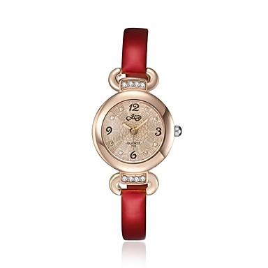 2016 luxus nemes romantikus rózsa arany cirkónia piros női karóra