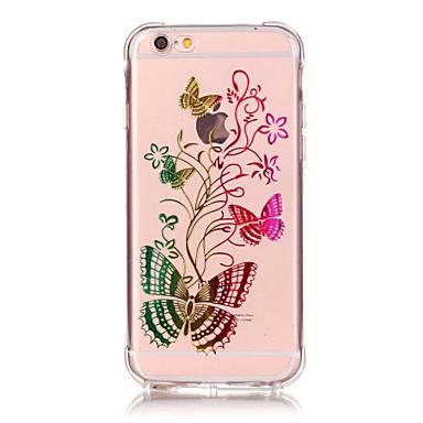 Kompatibilitás iPhone 6 iPhone 6 Plus tokok Ütésálló Átlátszó Other Hátlap Case Pillangó Puha Hőre lágyuló poliuretán mert Apple iPhone 7