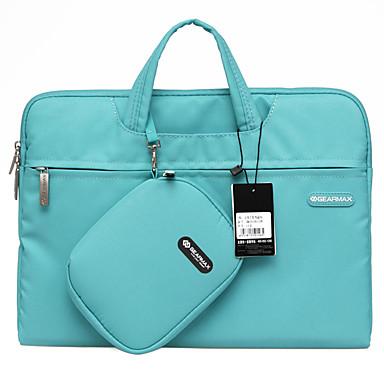 gearmax® 14inch / 15inch vízálló kézi laptop táska / zsák egyszínű kék / zöld / rózsaszín / szürke