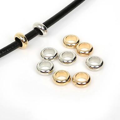 beadia 50db 12mm kerek nagy lyuk akril CCB muanyagalátétet laza gyöngyök európai gyűrűk (6 mm lyuk)