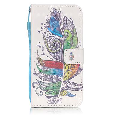 용 Samsung Galaxy S7 Edge 카드 홀더 / 지갑 / 스탠드 / 플립 / 패턴 케이스 풀 바디 케이스 깃털 소프트 인조 가죽 Samsung S7 edge / S7 / S6 edge plus / S6 edge / S6 / S5 / S4