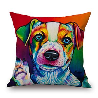 szt Cotton / Linen Pokrywa Pillow, Wzór zwierzęcy Wzory graficzne Textured Na co dzień Akcent / Decorative Modern / Contemporary