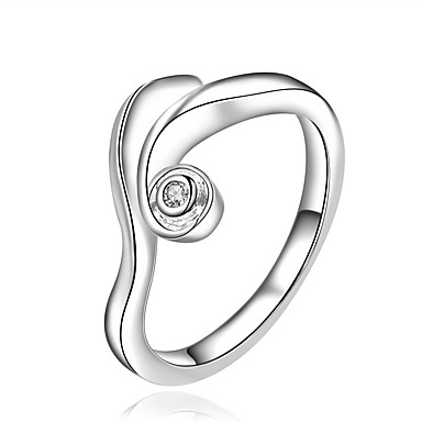Gyűrűk Divat Esküvő / Parti / Napi / Hétköznapi Ékszerek Ezüstözött Női Karikagyűrűk 1db,8 Ezüst