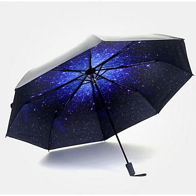 1 PCS pc Textil Sunny és Rainy Összecsukható esernyő
