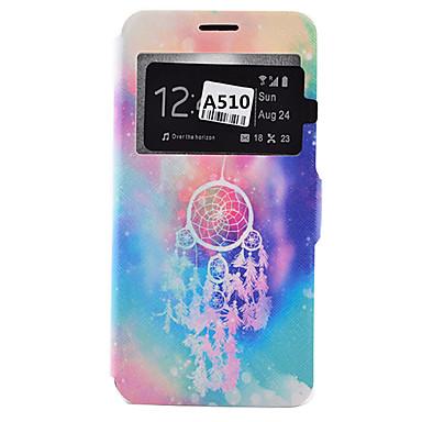 Case Kompatibilitás Samsung Galaxy Samsung Galaxy tok Kártyatartó Porálló Ütésálló Állvánnyal Héjtok Más Puha PU bőr mert A9(2016)