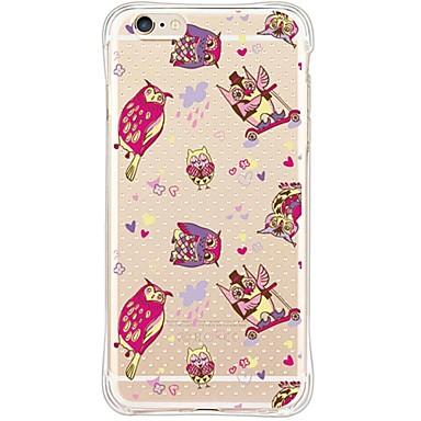 Mert iPhone 6 tok iPhone 6 Plus tok tokok Vízálló Ütésálló Porálló Átlátszó Hátlap Case Bagoly Puha TPU mert AppleiPhone 6s Plus iPhone 6