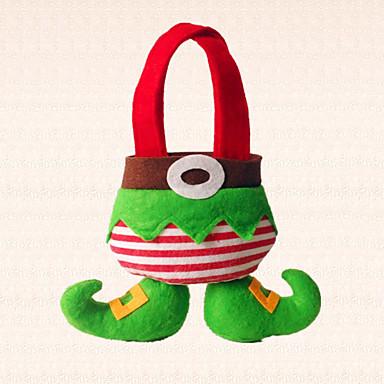 1db karácsonyi elf boot cukorka táska dekoráció otthon szabadság párt szép ajándék a gyermekek számára
