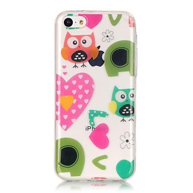 Mert iPhone 6 tok / iPhone 6 Plus tok IMD / Ultra-vékeny / Átlátszó / Minta Case Hátlap Case Bagoly Puha TPU AppleiPhone 6s Plus/6 Plus /