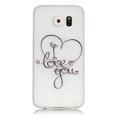 Mert Samsung Galaxy S7 Edge Foszforeszkáló / Minta Case Hátlap Case Szív Puha TPU SamsungS7 edge / S7 / S6 edge plus / S6 edge / S6 / S5