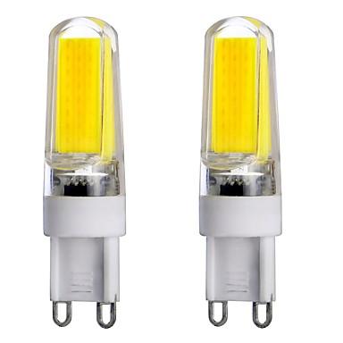 3W G9 LED Bi-pin 조명 T 1 LED가 COB 밝기조절가능 장식 따뜻한 화이트 차가운 화이트 내추럴 화이트 300-350lm 3000-6000K AC 220-240 AC 110-130V