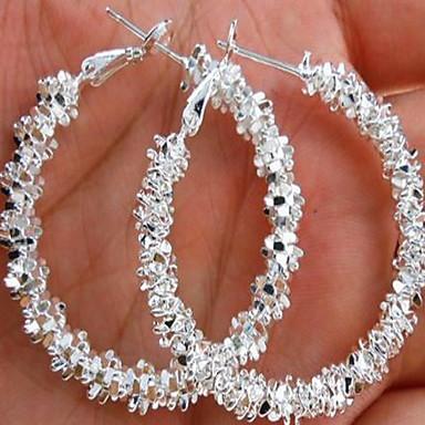 Pentru femei Cercei Rotunzi Machete femei Boem Modă Boho Elegant Druzy cercei Bijuterii Alb Pentru Nuntă Zilnic Casual Mascaradă Petrecere Logodnă Bal