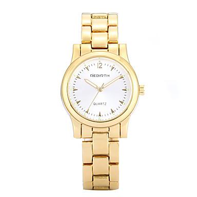 cheap Men's Watches-REBIRTH Women's Wrist Watch Quartz Gold / Rose Gold Casual Watch Analog Ladies Casual Fashion Elegant Dress Watch - Gold White Rose Gold