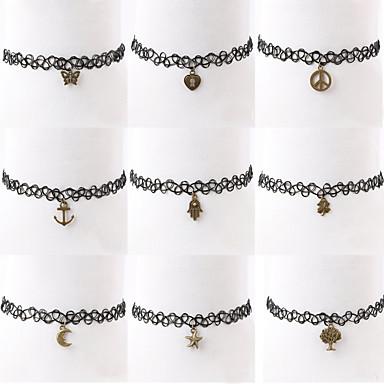 Női Alkalmi Divat Rövid nyakláncok Nyaklánc medálok Műanyag Ötvözet Rövid nyakláncok Nyaklánc medálok , Napi Hétköznapi