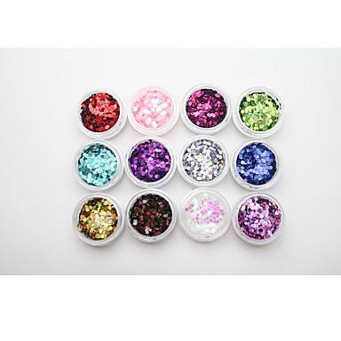 1 Biżuteria do paznokci Glitter i Poudre Cekiny Streszczenie Klasyczny Glitter & Sparkle Codzienny Wysoka jakość Nail Art Design