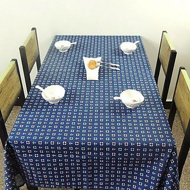 Négyzet Virágos Nyomtatott Asztalterítők , Vászon & pamut keverék Anyag Hotel étkezőasztal Lakberendezés 1
