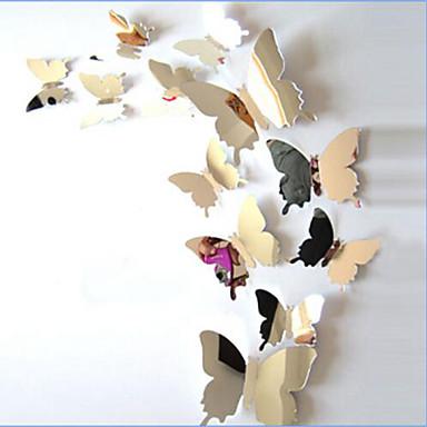 애니멀 벽 스티커 3D 월 스티커 / 거울 벽스티커 데코레이티브 월 스티커 / 웨딩 스티커,PVC 자료 물 세탁 가능 / 이동가능 / 재부착가능 홈 장식 벽 데칼