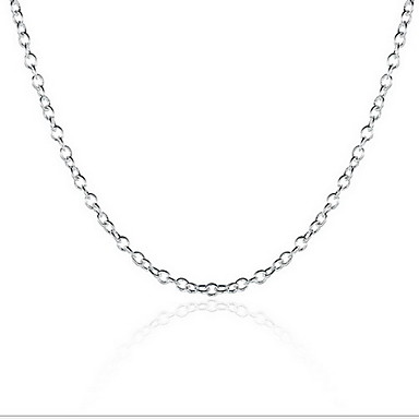 polished chains chain silver necklace box sterling mens sliver