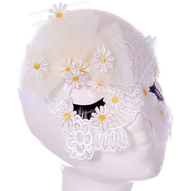 Lace Mask 1db Ünnepi dekoráció fél maszk Menő / Divat Egy méret Fehér Csipke