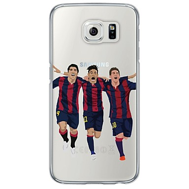Mert Samsung Galaxy S7 Edge Átlátszó / Minta Case Hátlap Case Rajzfilmfigura Puha TPU SamsungS7 edge / S7 / S6 edge plus / S6 edge / S6 /