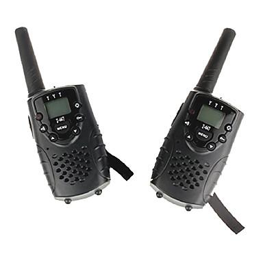 T667446B Walkie Talkie Hordozható Alacsony Akkufeszültség Figyelmeztetés HANG Titkosítás CTCSS/CDCSS Kulcsos zár háttérvilágítás LCD