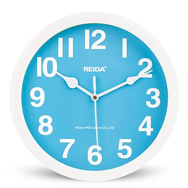 (색상 랜덤) 8인치 어린이 침실 귀여운 만화 벽 시계 음소거 원형 시계 석영 시계
