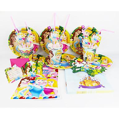 Disney Princess 92pcs szülinapi party dekoráció gyerekek evnent fél által party dekoráció 12 ember használja
