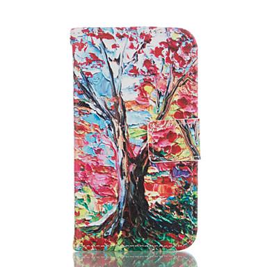 용 삼성 갤럭시 케이스 카드 홀더 / 지갑 / 스탠드 / 플립 케이스 풀 바디 케이스 나무 소프트 인조 가죽 Samsung Grand Prime / Core Prime