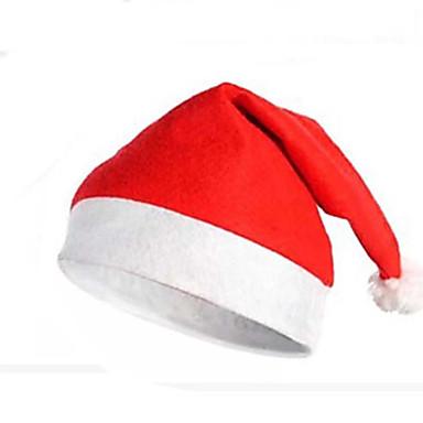 Articles pour Célébrer Noël Costumes de Père Noël Chapeau de Père Noël Mignon Textile Adulte Jouet Cadeau 1 pcs