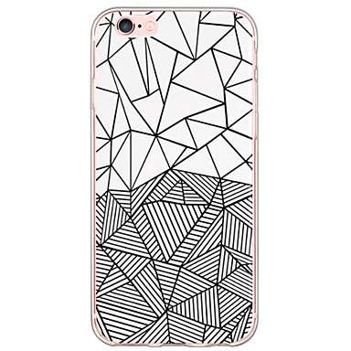 Case For Apple iPhone X iPhone 8 iPhone 6 iPhone 6 Plus Ultra-thin Translucent Back Cover Geometric Pattern Soft TPU for iPhone X iPhone