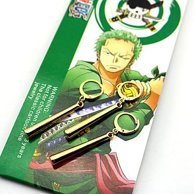Ékszerek Ihlette One Piece Roronoa Zoro Anime Szerepjáték Kiegészítők Naušnice ABS Ötvözet Férfi Női meleg