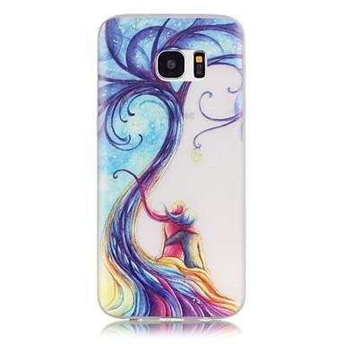 Mert Samsung Galaxy S7 Edge Foszforeszkáló / Minta Case Hátlap Case Fa Puha TPU SamsungS7 edge / S7 / S6 edge plus / S6 edge / S6 / S5 /