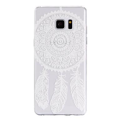 용 Samsung Galaxy Note7 케이스 커버 투명 패턴 뒷면 커버 케이스 포수 드림 소프트 TPU 용 Samsung Note 7